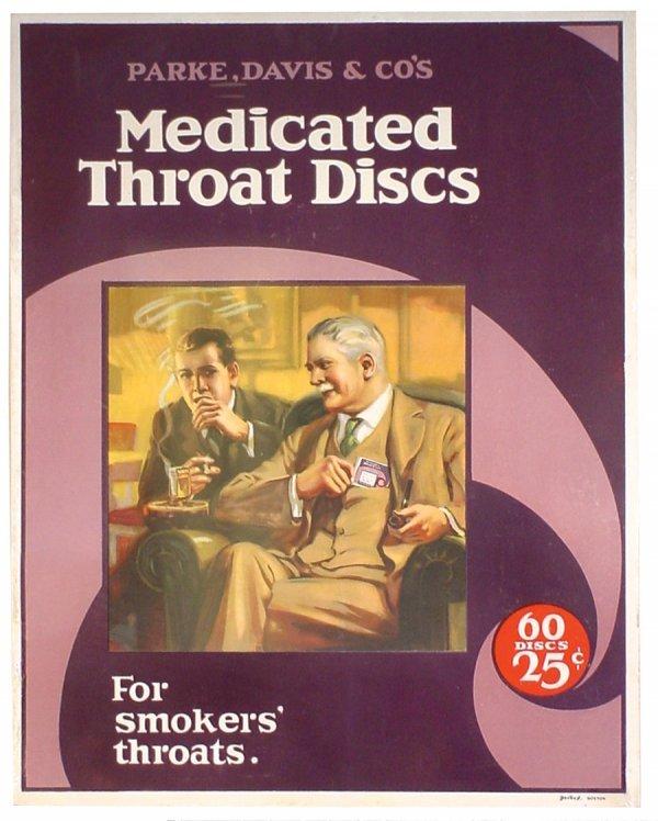 722: Drug store sign, Parke, Davis & Co's Medicated Thr