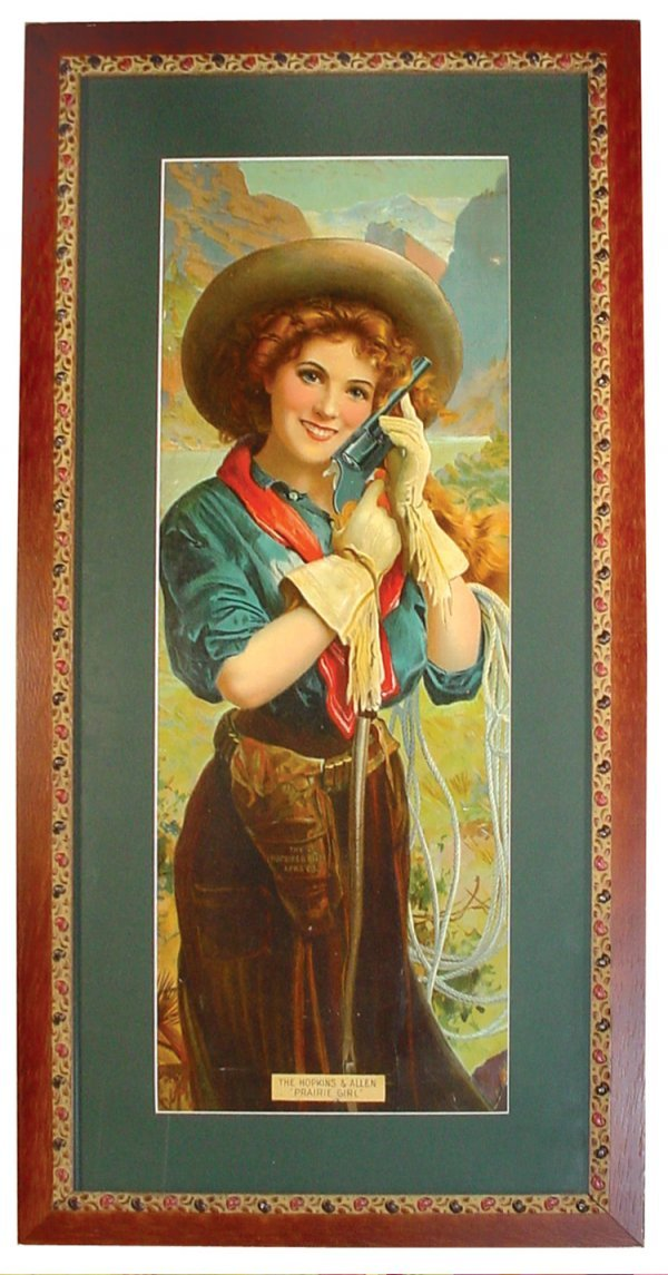 766: Gun advertising litho on paper for The Hopkins & A