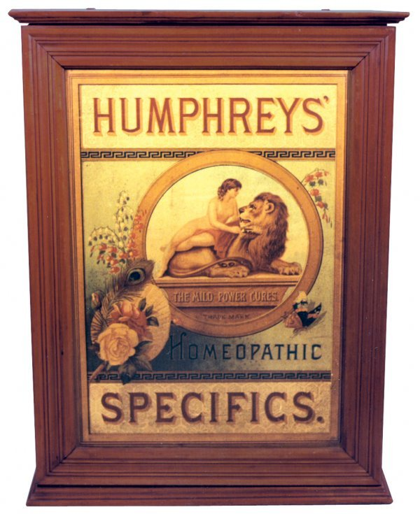 783: Humphreys' Homeopathic Specifics display case, ash