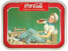812 CocaCola serving tray 1940 Sailor Girl The Am