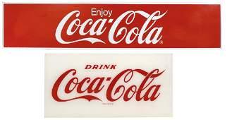"Coca-Cola signs (2), ""Enjoy Coca-Cola"", self-framed"