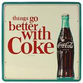 """Coca-Cola sign, """"things go better with Coke"""","""