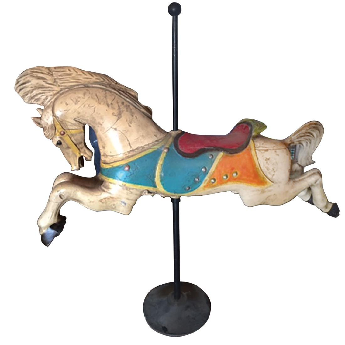 Carousel horse, C.W. Parker, painted aluminum on metal - 2