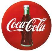 "Coca-Cola sign, ""Drink Coca-Cola"" red porcelain button"