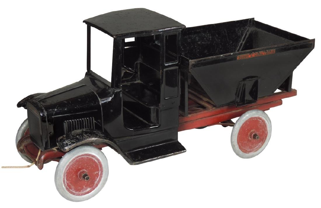 "Toy Buddy ""L"" Coal Truck, Model 202, painted pressed"