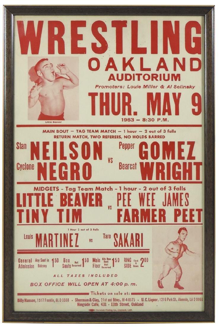 Sporting poster, Wrestling Midgets-Tag Team Match
