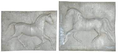 Weathervane, Rare uncut horse, 2-pc zinc, Exc cond,