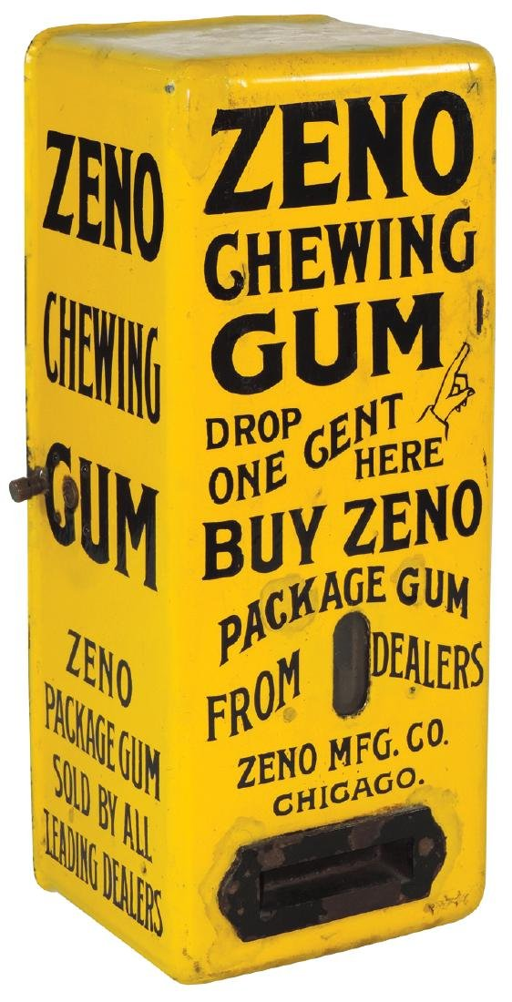 Coin-operated chewing gum vendor, Zeno Chewing Gum, 1