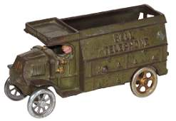 Toy truck Hubley Bell Telephone Truck cast iron wC