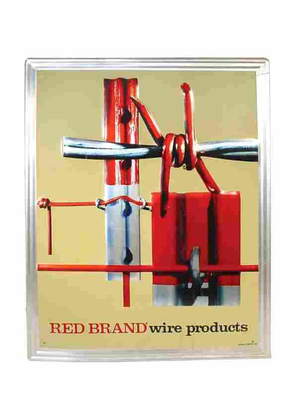 Red Brand Wire Products litho on embossed aluminum