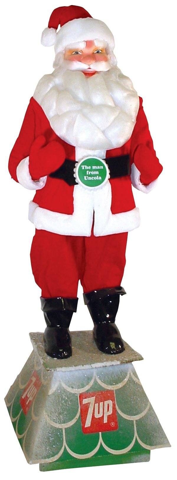 "219: 7-Up Santa, ""The Man from Uncola"", large plush San"