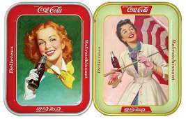 239 CocaCola serving trays 2 French Canadian 1957
