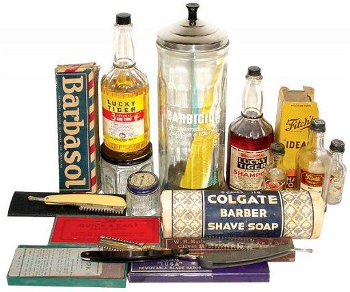 332: Barber shop items, Barbicide comb disinfectant dis