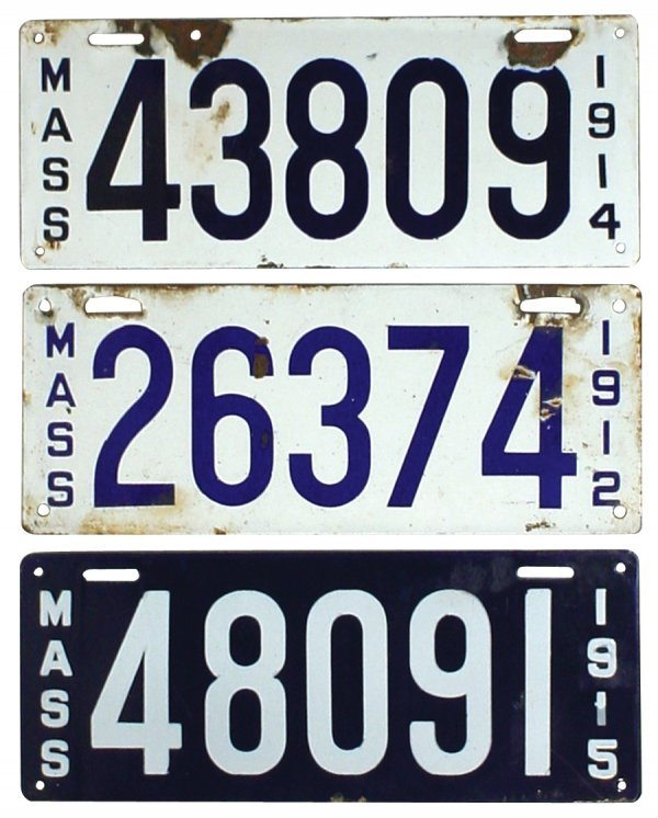 469: Petroliana, porcelain license plates (3), all from