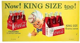 "997: Coca-Cola Sprite Boy cdbd sign, ""Now! King Size To"
