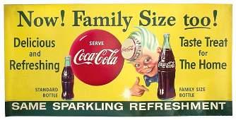 "1010: Coca-Cola Sprite Boy heavy paper sign, ""Now Famil"