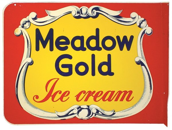 1202: Soda fountain ice cream sign, Meadow Gold Ice Cre