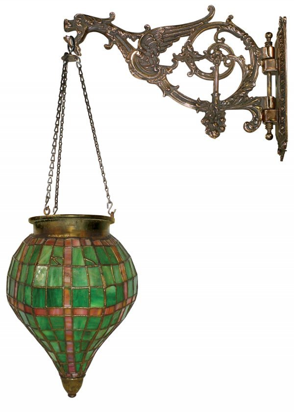 1215: Drug store apothecary hanging show globe, red & g