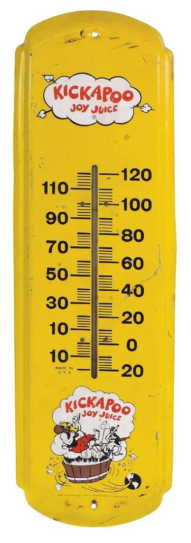 Soda fountain Kickapoo Joy Juice thermometer, Capp