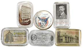 Advertising paperweights 6 Hockensmith  Wagoner