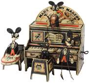 """Toy Marx Merry Makers """"Mouse Band"""", litho on tin"""