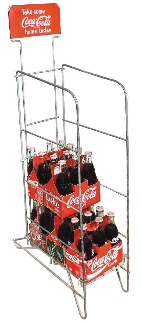 """Coca-Cola bottle display rack, """"Take some home today"""","""