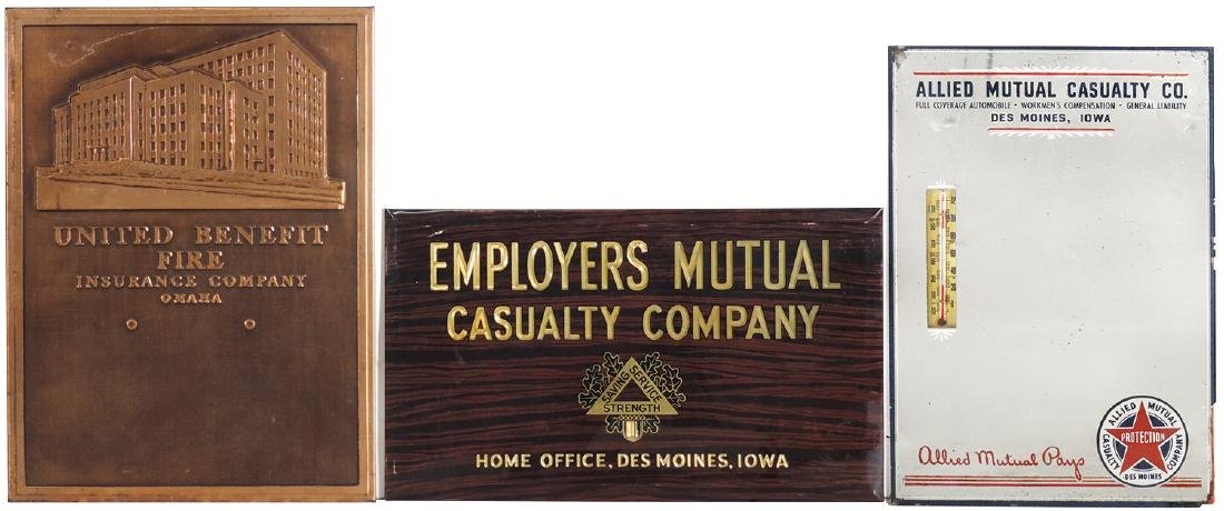 Insurance signs (3), Employers Mutual Casualty Company,