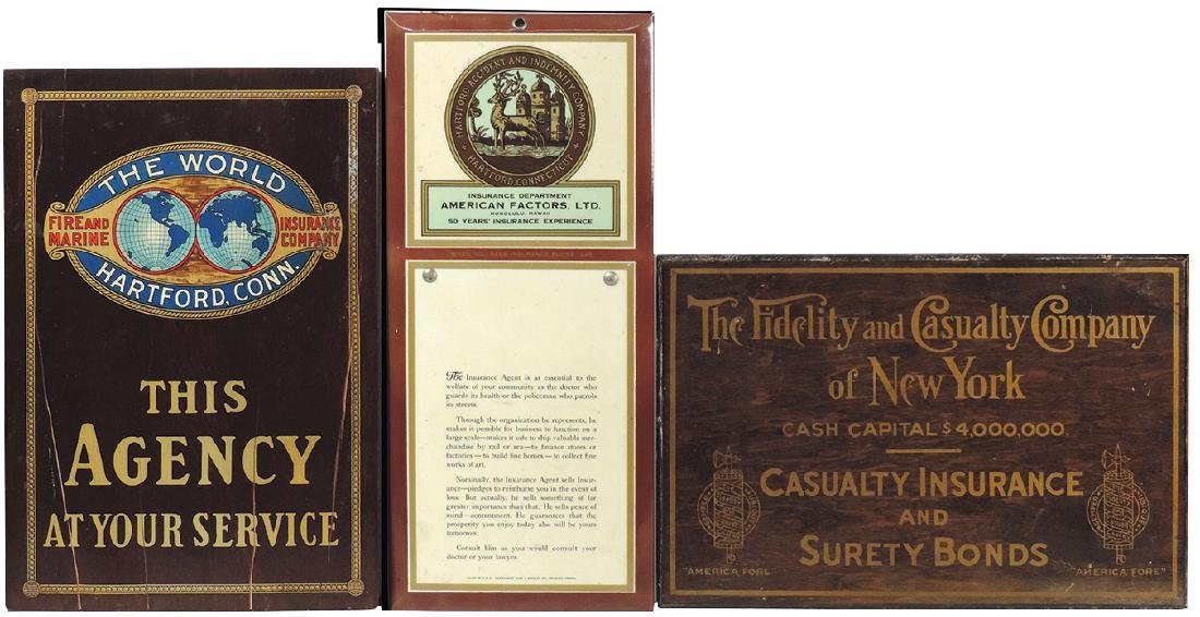 Insurance signs (3), Hartford Accident & Indemnity