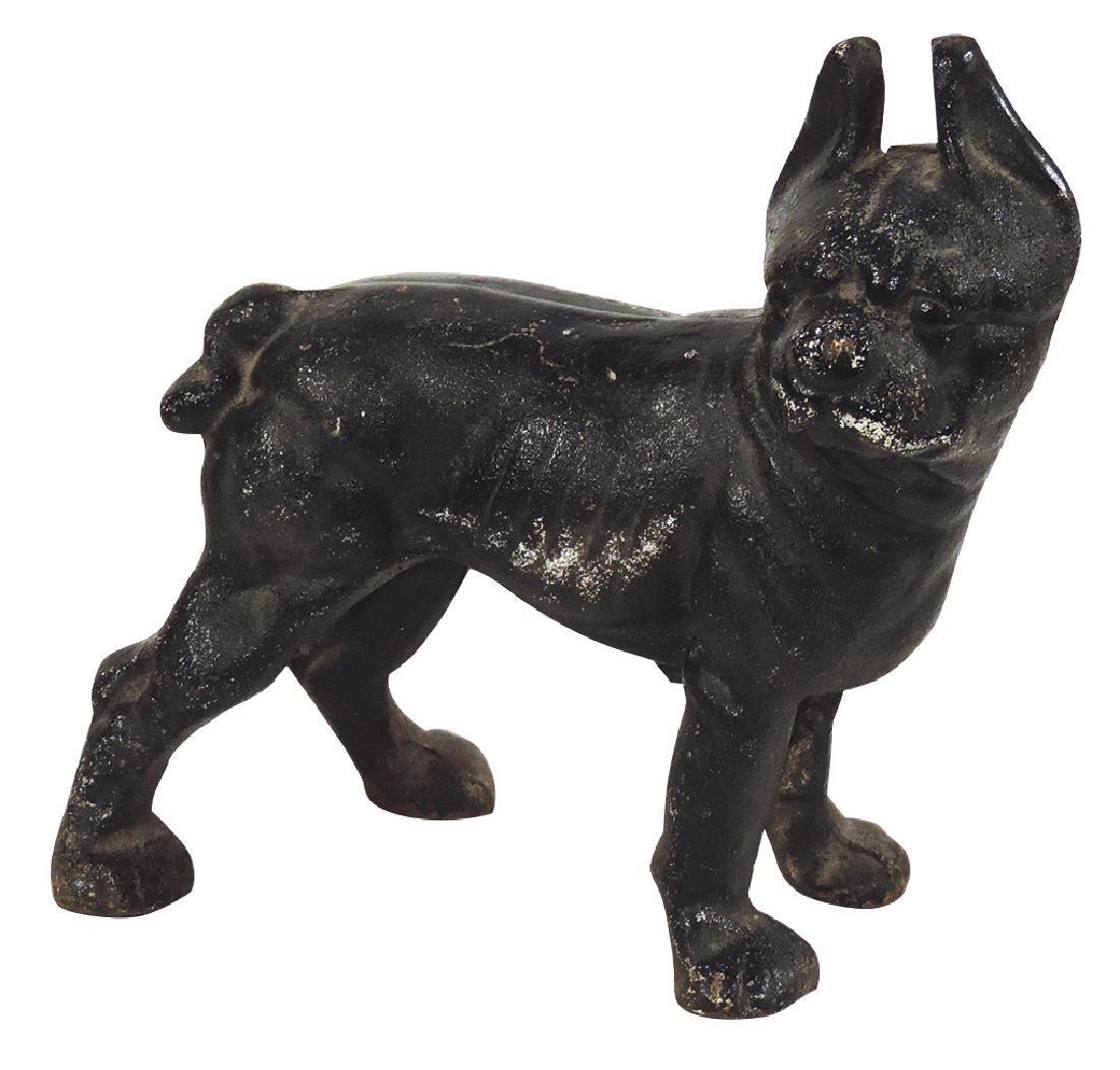 Cast iron doorstop, Hubley Boston Terrier, nicely