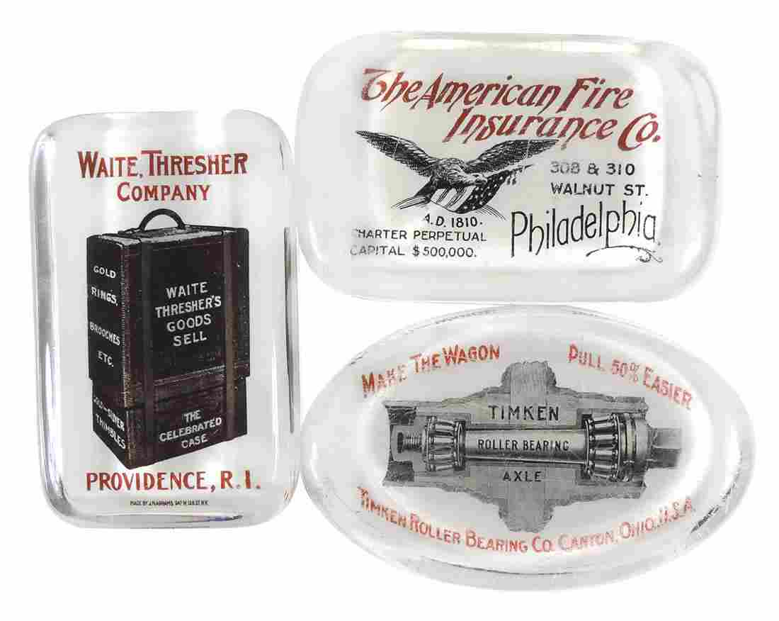 Advertising paperweights (3), Waite, Thresher