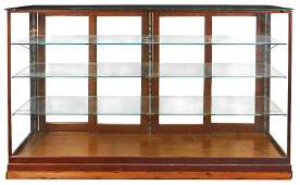 Country store display case oak floor model w4 sliding