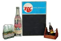 Soda fountain items (5), Royal Crown Cola, menu board,