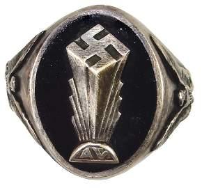WWII German-American Bund Ring, c.1936, Very Rare