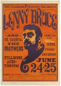 Concert poster, Lenny Bruce at the Fillmore