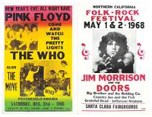 Concert posters (2), Jim Morrison and the Doors,