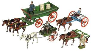 Britains lead figures horsedrawn implements No 8F