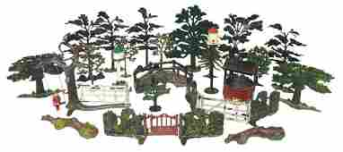 Britains & JOHILLCO lead figures (approx 23), trees,