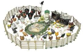 Britains & JOHILLCO lead farm animals (approx 85),