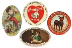 Advertising pocket mirrors (4), John Morrell &