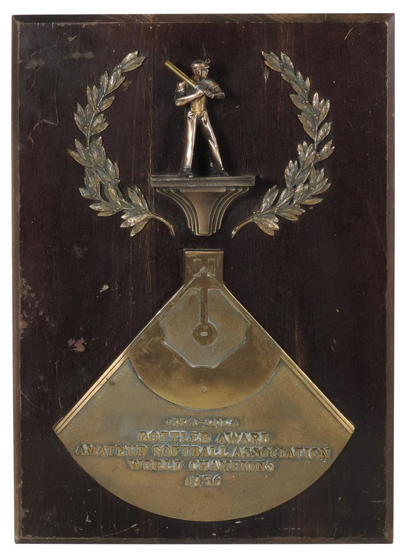 Coca-Cola Bottler Award from the Amateur Softball