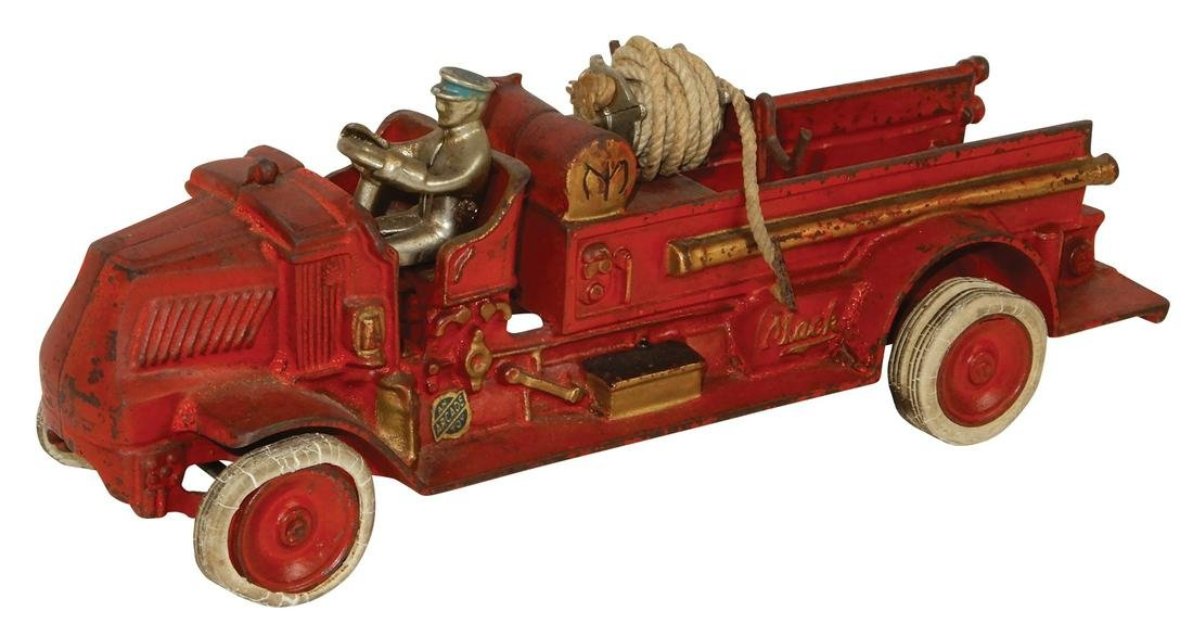 "Toy Arcade Mack Fire Truck No.245, embossed ""Arcade Mfg"