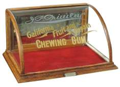 Country store chewing gum counter display case J P