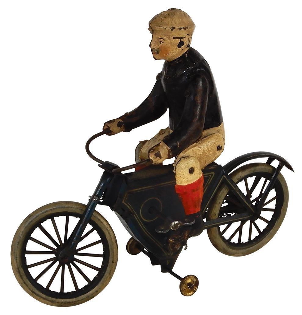 Toy Fischer Gunthermann motorcycle, tin w/orig paint &