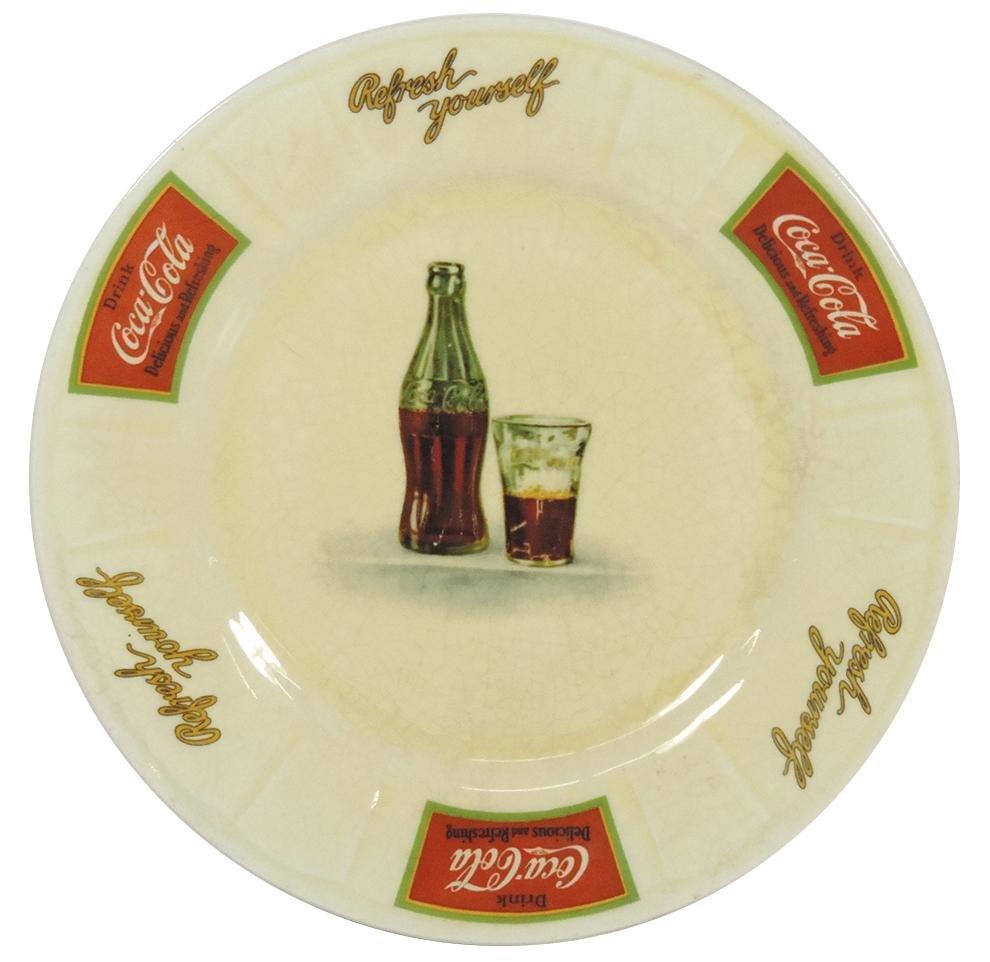 "Coca-Cola sandwich plate, ""Refresh yourself-Drink"