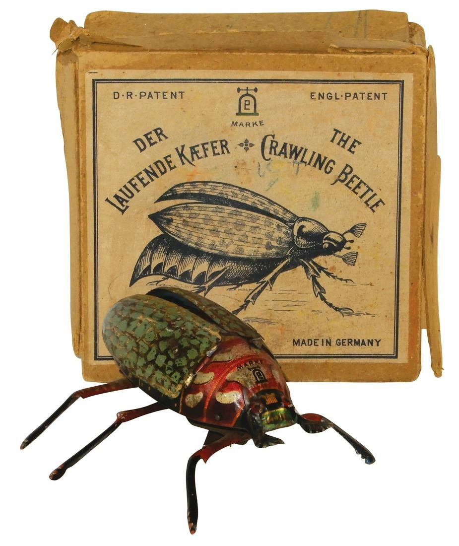 Toy Crawling Beetle, by Marke Lehmann, Made in Germany,