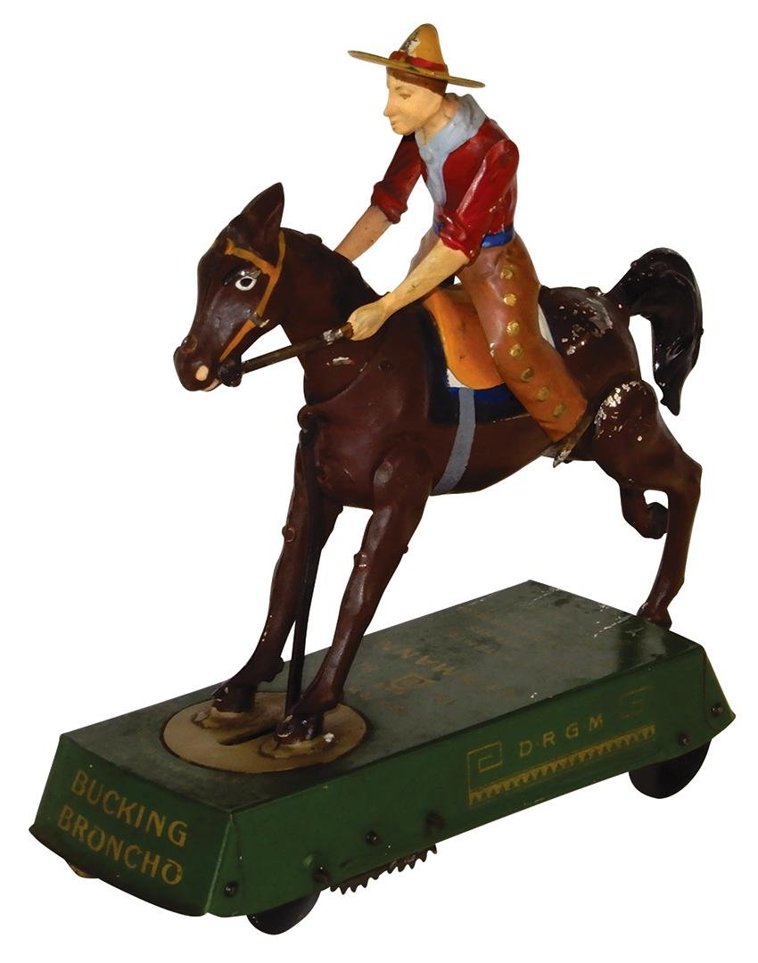 Toy Lehmann Bucking Broncho, Made in Germany, litho on