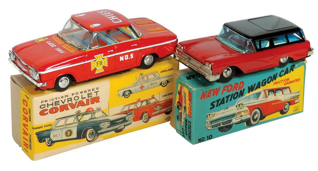 Toy cars (2), ASC New Ford Station Wagon & Chevrolet
