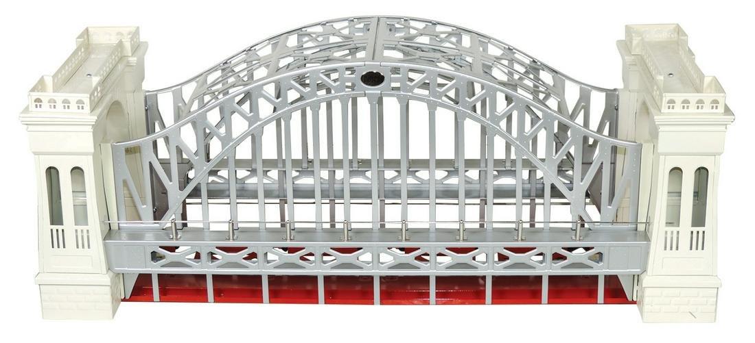 Toy train bridge, MTH No. 300, NOS metal in orig box,