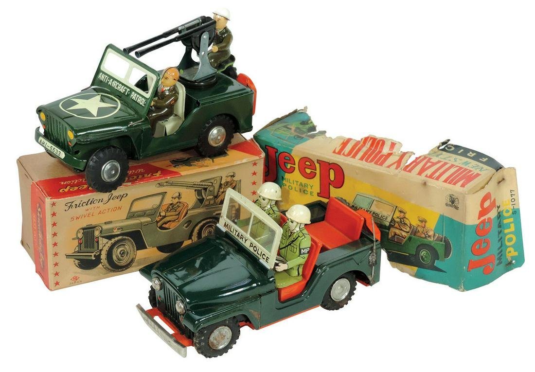 Toys (2), AHI Friction Jeep w/Swivel Action & Jeep