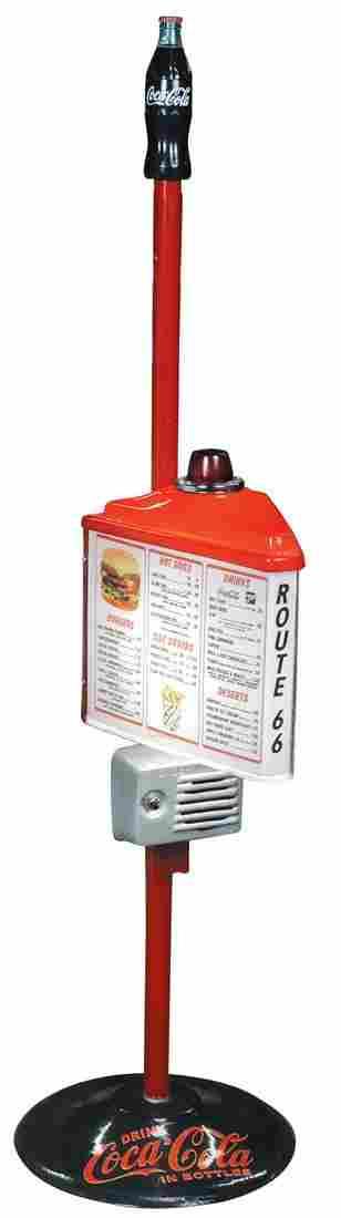 Coca-Cola drive-in menu sign, contemporary, plastic on